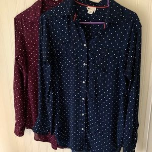 Bundle of two Stylus long sleeve blouses